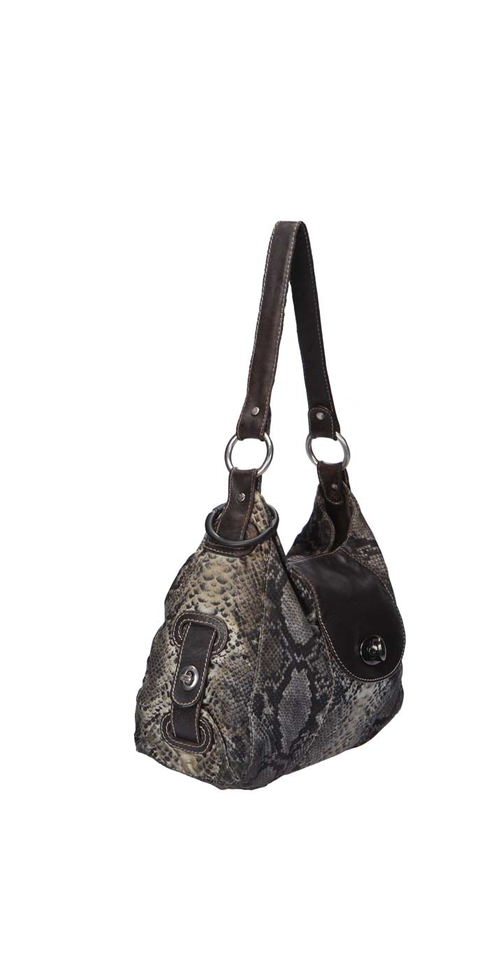 Donald J. Pliner Snake Print Shoulder Bag