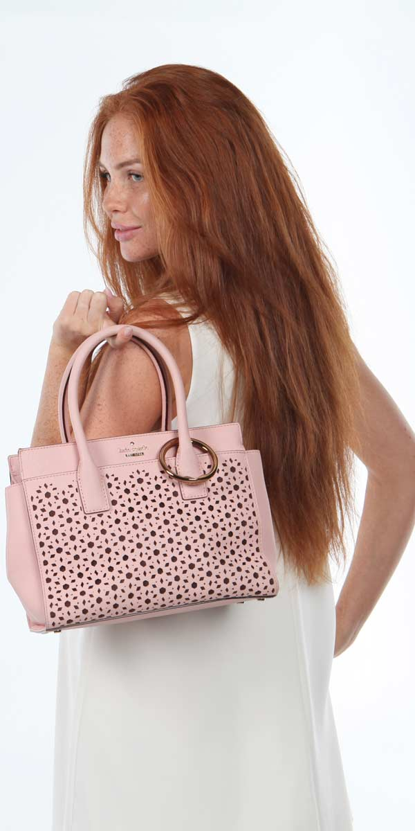 Copper Rose Clipa looks great on pink bags