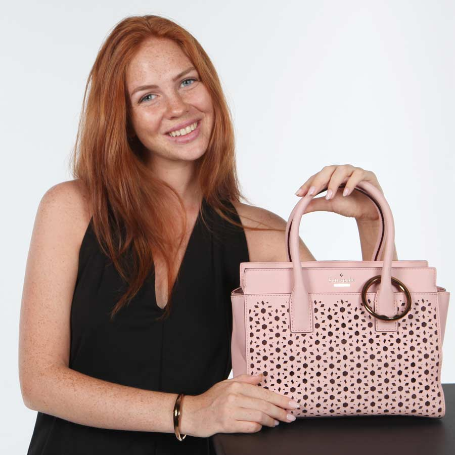 blush handbag style with pursehook
