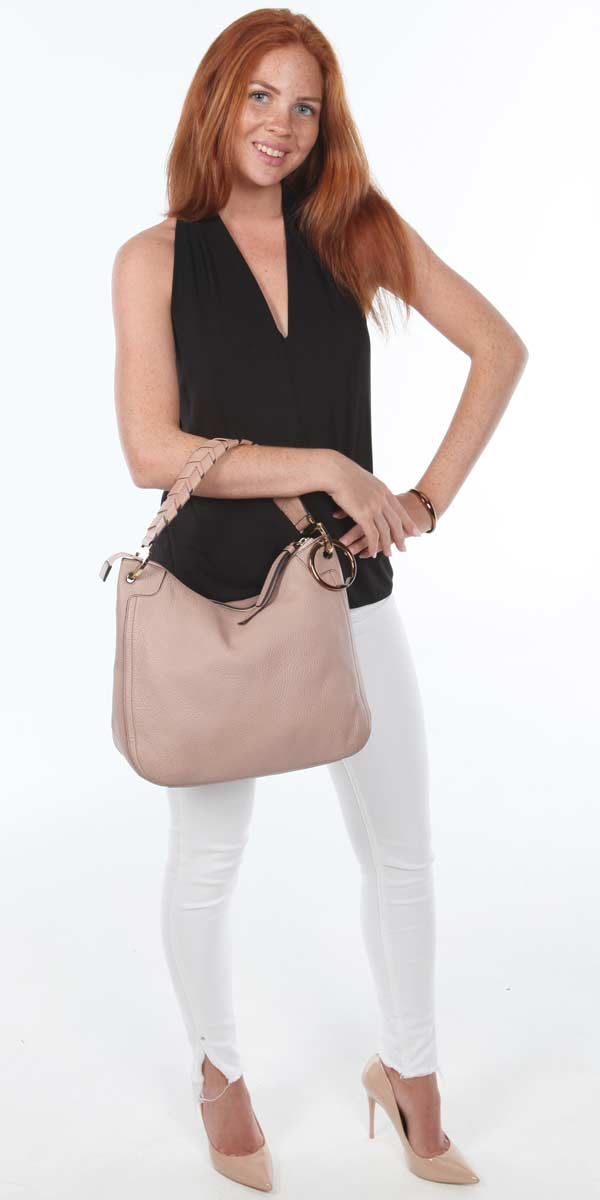 slouchy blush bag 2020