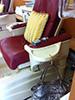 Clipa bag hanger at the nail salon