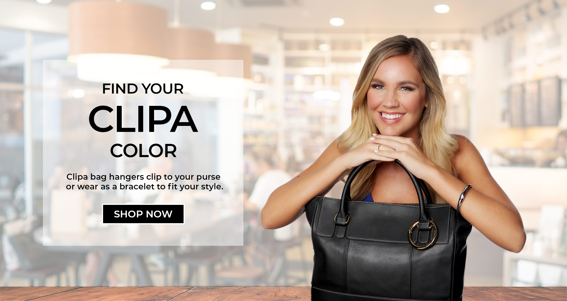 Welcome To Clipa The Instant Bag Hanger